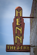 Houses Posters Prints - Henn Theatre Print by Debra and Dave Vanderlaan