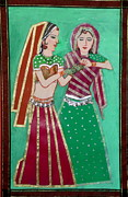 Indian Wedding Paintings - Henna preparation by Vandna Mehta