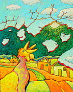Suburbs Paintings - Henny Penny by Ronald Walker