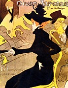 1901 Prints - Henri de Toulouse Lautrec 1864  1901 French painter Divan Japonais 1892 3 Print by Anonymous