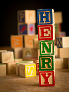 Henry Photos - HENRY - Alphabet Blocks by Edward Fielding