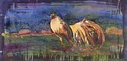 Birds Tapestries - Textiles Prints - Henry Print by Carolyn Doe