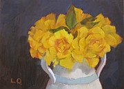 Lori Quarton Art - Henry Fonda Yellows by Lori Quarton