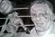 Sports Art Drawings Originals - Henrys Hammer by Brian Horsley