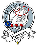 Genealogy Prints - Hepburn Clan Badge Print by Heraldry