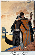 Cloak Paintings - Her and Him by Georges Barbier