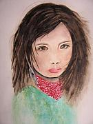 Portraits Art - Her Expression Says it All by Chrisann Ellis