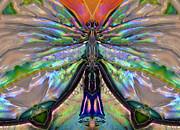 Her Heart Has Wings - Spiritual Art By Sharon Cummings Print by Sharon Cummings