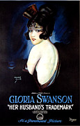 1920 Movies Art - Her Husbands Trademark by Gary Perron
