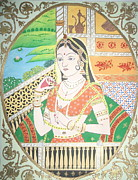 Pahari Paintings - Her Majesty by Shweta Joshi