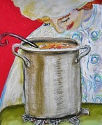 Culinary Pastels - Her Soup by Emily Michaud