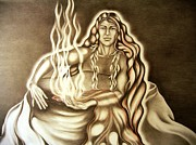 Pele Drawings - Her Warmth by Cindy Dupuis