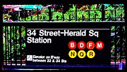 Herald Sq Station Print by Christopher Woods