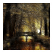 Abstract.trees Drawings Prints - Herbstimpressionen Print by Stefan Kuhn