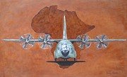 Plane Painting Originals - Hercules C-130 by Jenny Smith