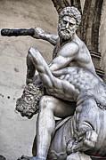 Hercules Killing The Centaur Print by SM Shahrokni