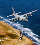 Usaf Framed Prints - Hercules Over Cape Hatteras Framed Print by Dale Jackson