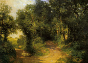 Herding Digital Art - Herding Sheep by Thomas Moran