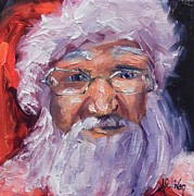 Santa Claus Originals - Here Again by Alabama Artist Angela Sullivan by Angela Sullivan