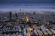 Tel Aviv Prints - Here comes the Fog  Print by Ron Shoshani