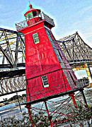 Landmarks Pastels Metal Prints - Here Comes the Sun Metal Print by Seth Adamo