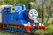 Storybook Photo Prints - Here Comes Thomas The Train Print by Dale Kincaid