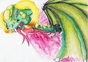 Dragon Prints - Here I come Print by Amanda Fawcett