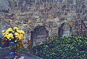 Auvers Sur Oise Prints - Here Lies Vincent Print by Mary Bedy