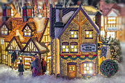 Christmas Village Framed Prints - Here We Come a Caroling Framed Print by Caitlyn  Grasso