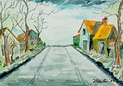 Streets Painting Originals - Hereafter Avenue by Larry Martin