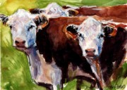 New England Art - Hereford Ears by Molly Poole