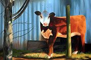Moo Originals - Hereford by Rachel Lawson