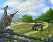 Pasture Painting Posters - Heres Looking At You Kid Poster by Catherine Howard