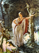 Fairies Posters - Heriia and The Fairies Poster by John Simmons