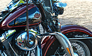 Harley Davidson Photo Originals - Heritage Softail by Mamie Thornbrue
