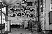 Grocery Store Framed Prints - Herman Had It All bw Framed Print by Steve Harrington