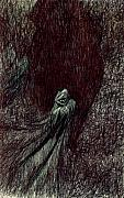 Lowbrow Drawings - Hermit by Kd Neeley