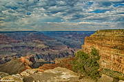 Night Angel Digital Art Prints - Hermit Road Viewpoint Grand Canyon National Park Print by Nadine and Bob Johnston
