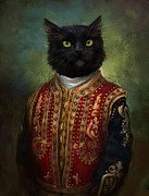 Kitten Digital Art - Hermitage Court Moor in casual uniform by Eldar Zakirov
