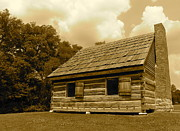 Log Cabin Photographs Photos - Hermitage Farmhouse 2 by Denise Mazzocco