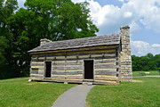 Log Cabin Photographs Photos - Hermitage Slave Quarters by Denise Mazzocco