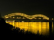 Memphis Tn Prints - Hernando de Soto Bridge 002 Print by Lance Vaughn