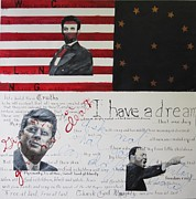Jfk Paintings - Heroes by Lawrence  Dugan