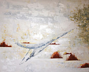 Great Outdoors Paintings - Heron Flight by JC Nemish