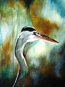 Heron Pastels - Heron in the Mist by Cindy Dupuis