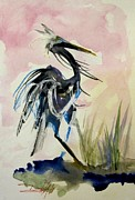 Delilah  Smith - Heron on Pink