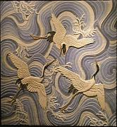 Culture Reliefs - Herons over the sea. by Jose Manuel Solares