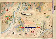 Vintage Map Paintings - Herreras Map of a Mexican War Campaign 1848 by MotionAge Art and Design - Ahmet Asar