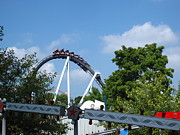 Hershey Park - Great Bear Roller Coaster - 121214 Print by DC Photographer