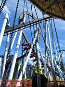 Hershey Park - Great Bear Roller Coaster - 121216 Print by DC Photographer